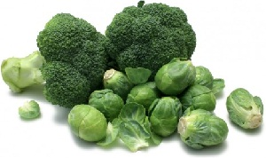 broccoli and brussels sprouts - soluble fibre foods