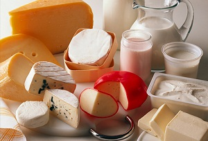 dairy products - low fibre foods