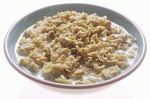 oatmeal - low fibre foods